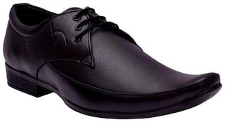 Inlazer Men Black Derby Formal Shoes - 345-BLACK