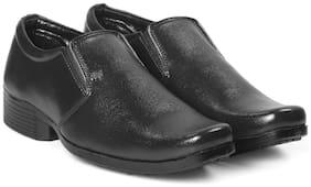 Inlazer Men Black Derby Formal Shoes - 557-BLACK