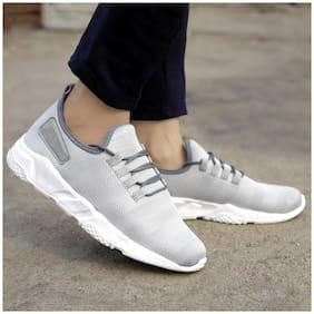 Inlazer Men Grey Running Shoes ( Grey )