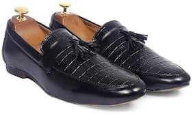 Inlazer Men Black Loafers - 576-BLACK
