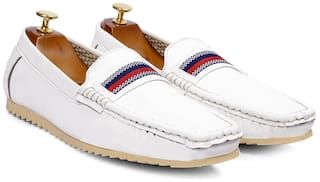 Inlazer Men White Loafers - 578-WHITE