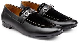 Inlazer Men Black Loafers - 607-BLACK-7