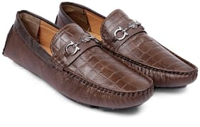 Inlazer Men Brown Loafers - 588-BROWN