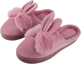 124860fdb IRSOE Women's Comfort Foam Slippers Wool Slip-On House Suede Fur Lined/Anti-