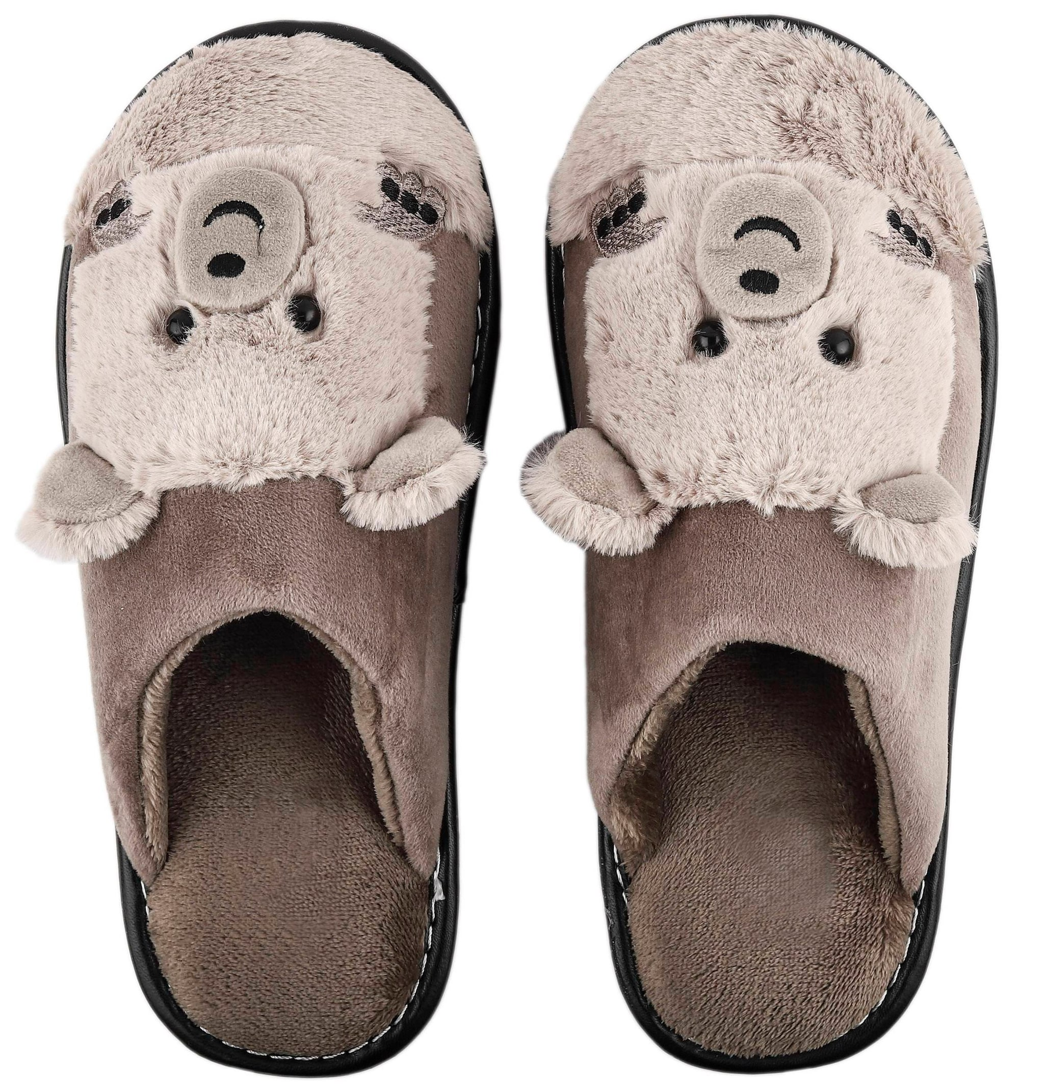 9626ef59cc9 Buy IRSOE Women Bear Velvet Anti-slip Soft Bottom Wool Slip-On Indoor    Outdoor Winter Slippers- Brown Online at Low Prices in India - Paytmmall.com