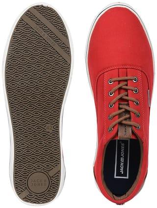Jack & Jones Men's Red Sneakers