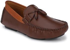 John Karsun Men Brown Loafers - 3548-BROWN