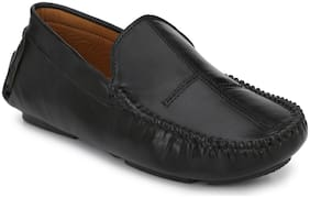 John Karsun Men Black Loafers - 3544-BLACK
