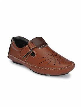 John Karsun Men Tan Shoe-Style Sandals
