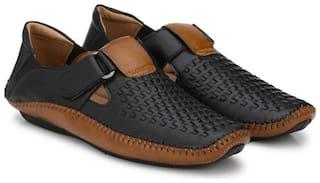 Jokatoo Men Black Sandals