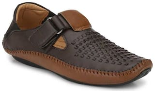 Jokatoo Men Brown Sandals