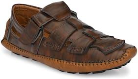 Jokatoo Men Brown Sandals