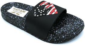 KAPANI FASHION Men Black Slider