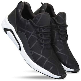 KASOL Men Running Shoes ( Black )