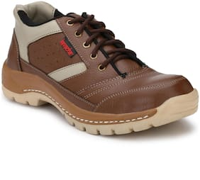 Kavacha Pure leather Steel Toe Safety Shoe , S46