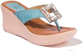 Khadim's Women Blue Wedges