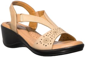 Khadim's Women Beige Wedges