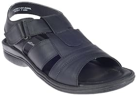 Khadim's Black Strap-On Sandal