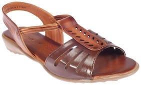 Khadim's Brown Flat Sandal