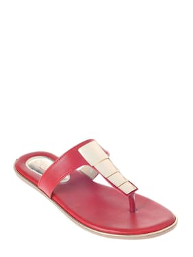 Khadim's Cleo Women Red Casual Flat