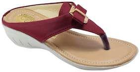 Cleo Maroon Wedges