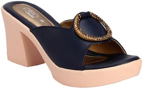 Khadim's Women Blue Mules