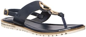 Khadim's Cleo Women Navy Blue Casual Strap-On Sandal