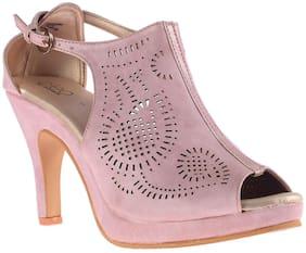 Khadim's Cleo Women Pink Lifestyle Stiletto Heel Sandal
