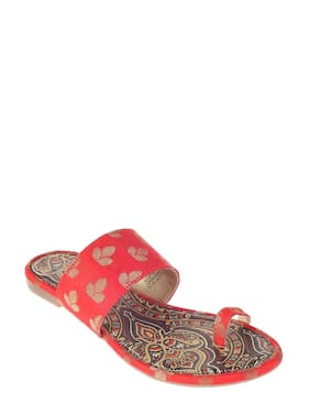 Khadim's Cleo Women Red Ethnic Flat