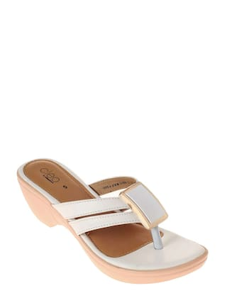 421c41559c99 Buy Khadim s Cleo Women White Casual Wedges Online at Low Prices in ...