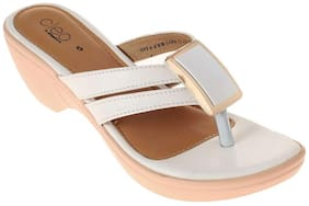 Khadim's Women White Wedges