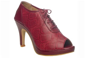 Khadim's Women Maroon Wedges
