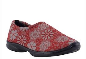 Khadim's Women Red Slip-On Shoes