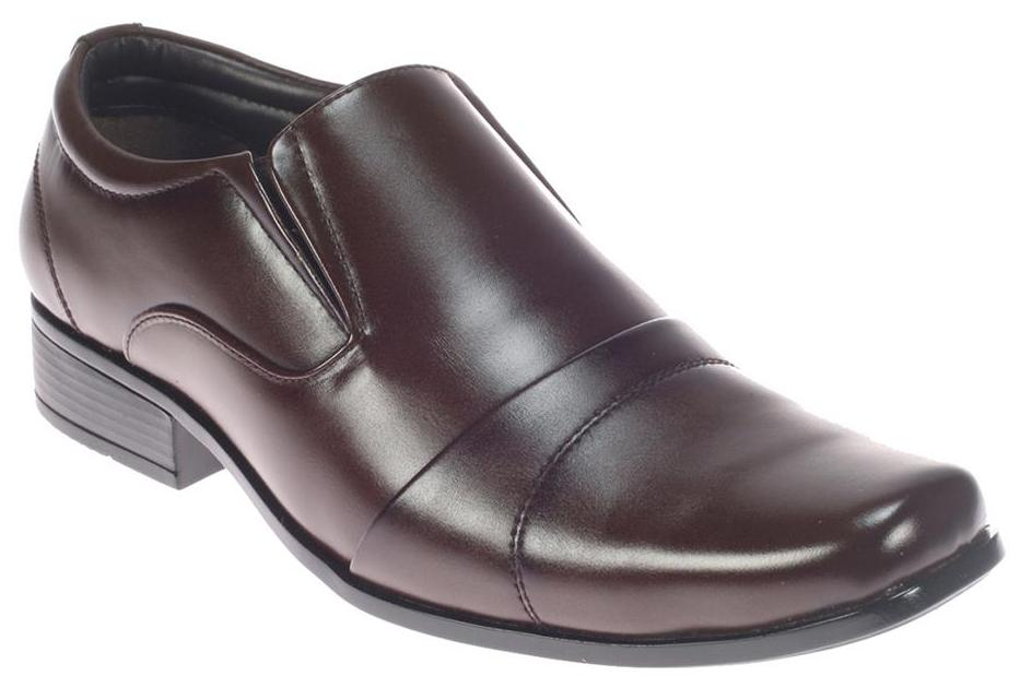 Lazard Mens Brown Faux Leather