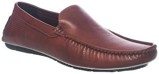 Khadim's Men Maroon Loafers - 33504833550002