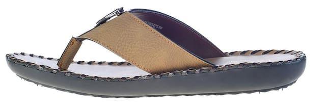 Khadim's Men Tan Outdoor Slippers