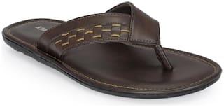 Khadim's Men Brown Comfort Dress Slipper