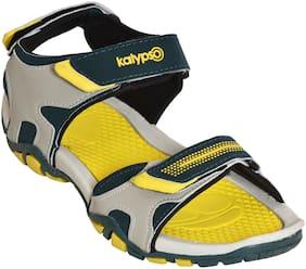 Khadim's Men Yellow Casual Floater Sandal