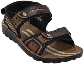 Khadim's Men Brown Casual Floater Sandal