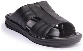 Khadim's Men Black Casual Slip-On Sandal