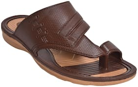 Khadim's Men Brown Ethnic Slip-On Sandal