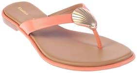 Khadim's Orange Slippers