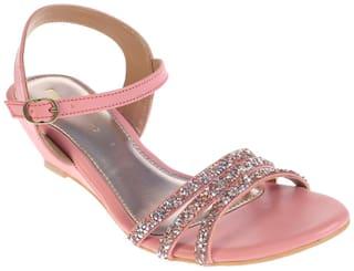 Khadim's Pink Wedges