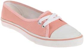 Khadim's Women Peach Canvas Shoes