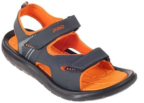 Khadim's Pro Men Orange Casual Floater Sandal