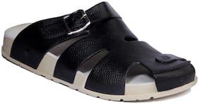 Khadim's Pro Men Black Casual Strap-On Sandal