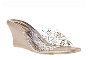 Women Sandals ( Gold )