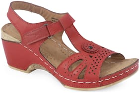 Khadim's Women Red Wedges