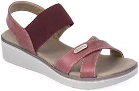 Khadim's Sharon Women's Maroon Heel Sandal