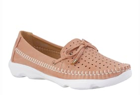 Khadim's Women Pink Loafers